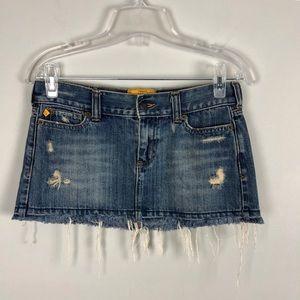 Hollister Distressed Denim Mini Skirt Size 1
